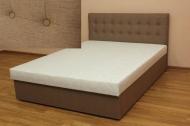 Белла 140, кровать в ткани писано кахве и жакард