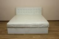 Белла 160, кровать в ткани точ оф вайт и жакард