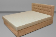 Белла 160, кровать в ткани альфа кэмэл - 1
