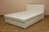 Белла 160, кровать в ткани скай вайт