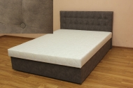 Белла 160, кровать в ткани сенд стоун и жакард