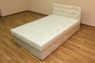 Белла 120, кровать в ткани сахара беж