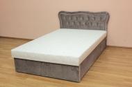 Ева 120, кровать в ткан манхетен какао