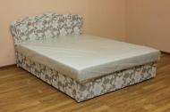 Ева 1,6, диван в ткани хале серый и жаккард