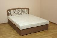 Ева 140, кровать в ткани манчестер гарден 03 и рим 03 браун