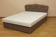 Ева 140, кровать в ткани мона 02 и однотон