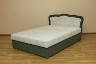 Ева 140, кровать в ткани икада комби 100 и розалинда 331