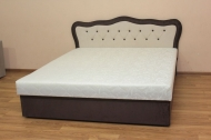 Ева 160, кровать в ткани ельдорадо крем и однотон - 1