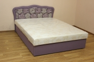 Ева 160, кровать в ткани флора 04 и однотон
