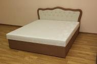 Ева 160, кровать в ткани мисс 02 и рим 03 браун