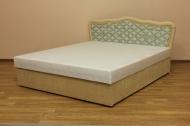 Ева 160, кровать в ткани виктория и элиза комби беж