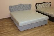 Кровать Ева 1,6 в ткани спринг магнолия