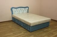 Кровать Ева 1,2 в ткани еленора1006 и однотон
