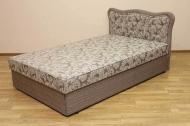 Кровать Ева 1,2 в ткани салют браун и однотон