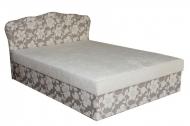Кровать Ева 1,2 в ткани хале и сайд
