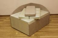Кубик диван в ткани доменика беж и однотон