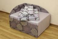Кубик диван в ткани флора 04 и однотон