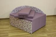 Кубик, диван в ткани хилтон лилак и флекс 10 лилак