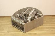 Кубик диван в ткани лео 34 и элиша 08