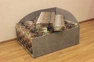 Кубик, диван в ткани лео 34 и престиж 7