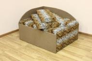 Кубик, диван в ткани лео 42 и элиша 08