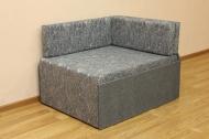 Кубик, диван в ткани марсель 31 блек и однотон