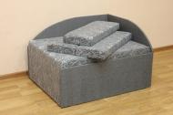 Кубик, диван в ткани марсель блек и однотон