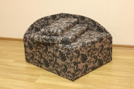 Кубик, диван в ткани нео флок капучино