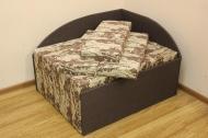 Кубик диван в ткани нью фарм браун и однотон