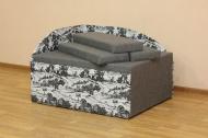Кубик, диван в ткани ньюфарм 1501 и серый однотон