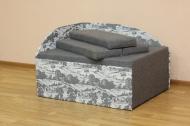 Кубик, диван в ткани ньюфарм 1502 и серый однотон