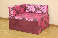 Кубик, диван в ткани рива розовая и однотон