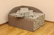 Кубик, диван в ткани салют браун и комби браун