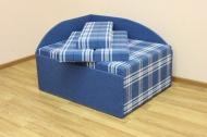 Кубик, диван в ткани шотландия 5а и 5б