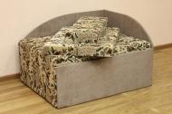Кубик, диван в ткани шпигель 1036-011 и мисти лт браун