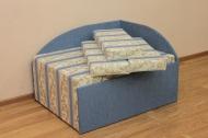 Кубик, диван в ткани версаль рея блу и мозаика блу - 1