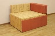 Кубик, диван в ткани юпитер голд и однотон терра