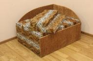 Кубик в ткани лео 42 ельдорадо браун --