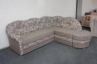 Лагуна, угловой диван в ткани ажур беж браун и альфа ерз