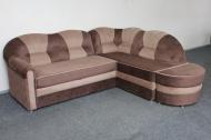 Лагуна, угловой диван в ткани доминика шоколад и доменика браун