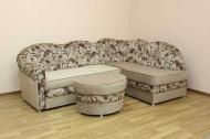 Лагуна, угловой диван в ткани лима беж и однотон