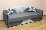 Любава диван в ткани эрика грей и саванна грей
