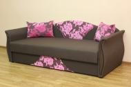 Любава, диван в ткани рива розовая и нео шоко
