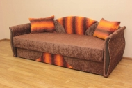 Любава в ткани пуфи оранж и лиса 136