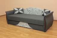 Любава, диван в ткани маркиза 1а и однотон