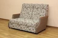Малютка, диван в ткани салют браун и однотон