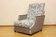 Малютка, кресло-кровать в ткани салют браун и однотон