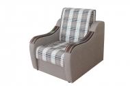 Марта 0,6, кресло-кровать в ткани шотландия кофе и комби кофе