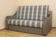 Марта 1,2, диван в ткани шотландия кофе и однотон