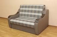 Марта 1,4, диван в ткани шотландия кофе и однотон